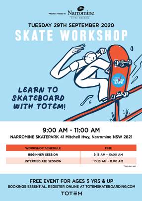 Learn to Skateboard with Totem - Narromine